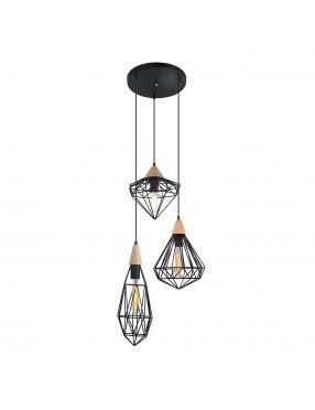 MDM-2591/3 BK Maelle lampa wisząca 3pł